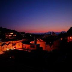 夕日と温泉街が望める